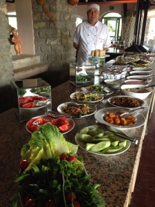 Buffet breakfast in Turkey.