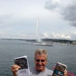 The Idiot and his books in Geneva, Switzerland.