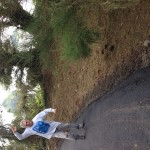 Doing a jig inspired by the sweet smell of new asphalt on a hillside driveway above the Pacific Ocean.