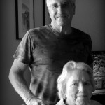The Idiot poses with his mother during tea before heading to Texas, San Francisco, London and Turkey until her 95th birthday in seven weeks.