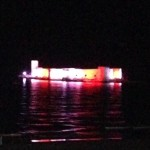 This is how the Maiden's Castle on an island off Kizkalesi looks at night compared to...
