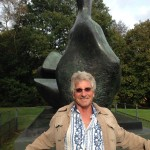 Visiting a sculpture by Henry Moore while leisurely walking on London's Hampstead Heath.