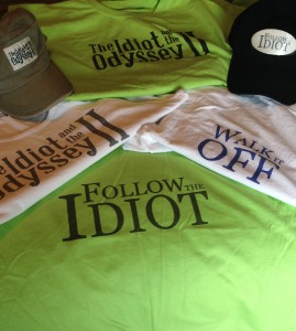 """Get """"Follow The Idiot,"""" """"Walk It Off"""" and """"The Idiot and the Odyssey II"""" merchandise at The Idiot's online boutique."""