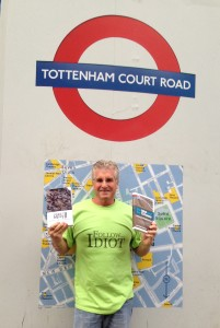 The Idiot promoting his books in London. (Photo: Liz Chapin)