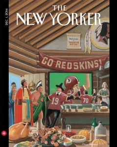 "The ""First Thanksgiving"" is the cover of The New Yorker magazine this week."