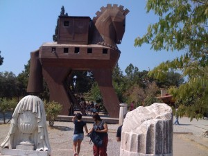 The Trojan Horse in Troy.