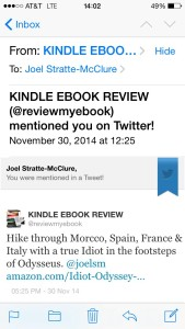 Kindle Ebook Review Tweet #2 establishes the book's geographical, literary and physical tone.