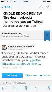 Kindle Ebook Review Tweet #4 features an excerpt from a comment made about the book by a Spanish princess.