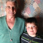 """In South Berwick, Maine, 9-year-old Seamus Henry said he didn't own a suitcase but gave The Idiot a necklace """"so I'll feel like I'm with you.""""  (Photo: Liz Chapin)"""