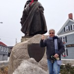 """In Salem, Massachusetts, Roger Conant, who founded the bewitched city in the early 1600s, told The Idiot to """"get me out of here. I can't stand these long winters any more."""" (Photo: Sonia Stratte-McClure)"""