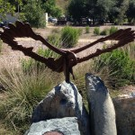 """The memorial plaque at Turtle Bay in Redding, CA, reads: """"Patriot, 2004-2013, You will soar in our hearts forever."""""""