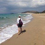 A walk -- and swim -- on the calm side of the Karpaz Peninsula.