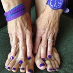 Purple is the official color of the Alzheimer movement.