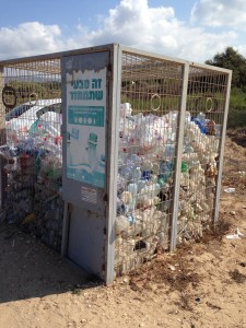 The Idiot LOVES visible recycling containers that, though primarily for security, give him an idea of what Israelis drink and eat on the beach.