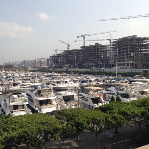 Waterfront City is being constructed adjacent to the marina in Dbayeh north of Beirut.