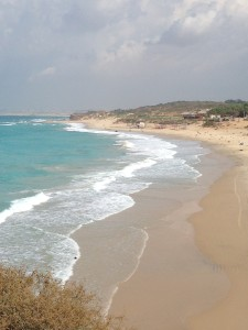 Ah, the pristine beach and anicent port of Yanve in Palmahim between Bat-Yam and Ashdod, Israel.