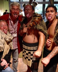 The Idiot finished fourth in a tight contest for the fiercest-looking Māori warrior look, which is intended to frighten the enemy. (Photo: Maribeth Rohman)