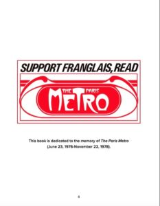 em>The Paris Metro 40th Anniversary Issue: The Book About Paris Yesterday is dedicated to the magazine that brought a revolutionary form of journalism to France.