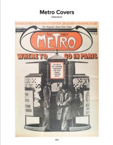 One Paris Metro cover story told readers where to go in Paris.