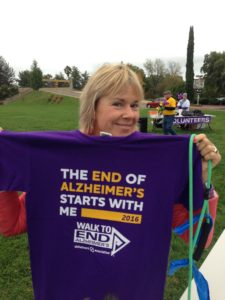 ...The Idiot's partner Liz Chapin who also participated in an Alzheimer walk in Massachusetts earlier this year.