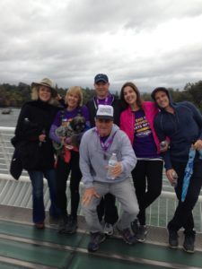 ...The Idiot's chiropractor and friend Dr. Trudi Pratt (top left) with the team on the Sundial Bridge.