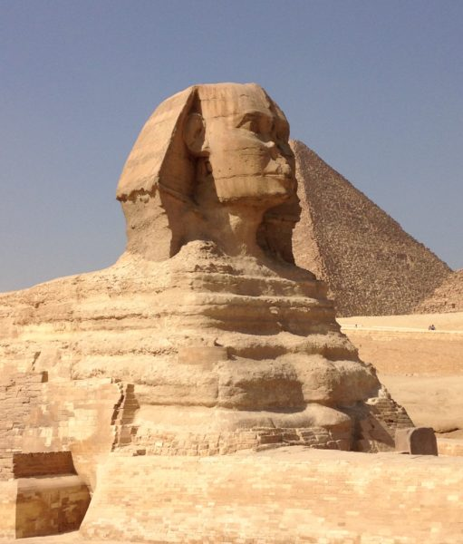 Then he visited the Pyramids in Giza, where Alexander the Great saw in 331 BC, to ensure they were still standing despite a 90 percent drop in tourism since 2010.