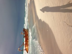 A beached boat, long shadows and a few fishermen were considered exciting as The Idiot walks towards Libya.
